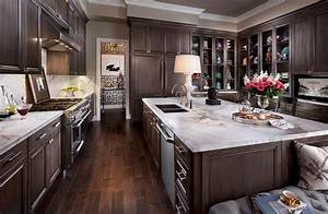 35, Stunning, Dark, Wood, Kitchen, Designs