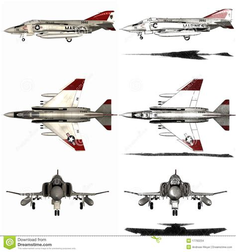 Fighter Aircraft Stock Illustration. Image Of
