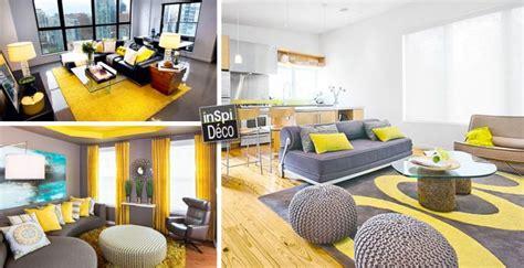 idee deco salon salle a manger cuisine déco jaune et gris dans le salon 25 idées créatives