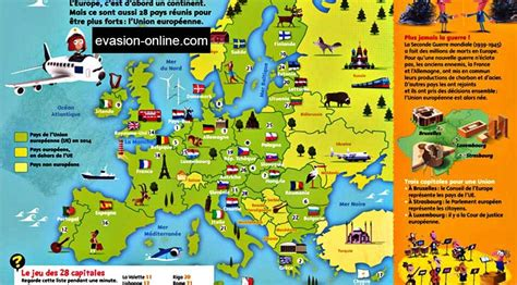 Carte Capitales Europe by Carte D Europe En Francais Avec Capitales The Best Cart