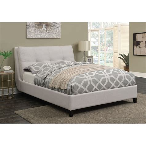 Coaster Amador Upholstered Queen Platform Bed With Button