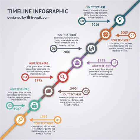 timeline infographic cv vector free