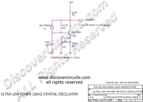 Ultra Low Power Khz Crystal Oscillator