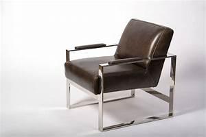 Fauteuil Cuir Design : fauteuil en cuir chrome weston fauteuil club cuir ~ Melissatoandfro.com Idées de Décoration