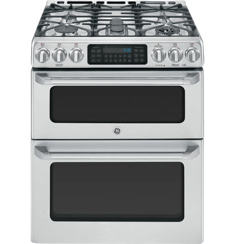cgs990setss ge cafe series 30 quot free standing gas oven with convection range available