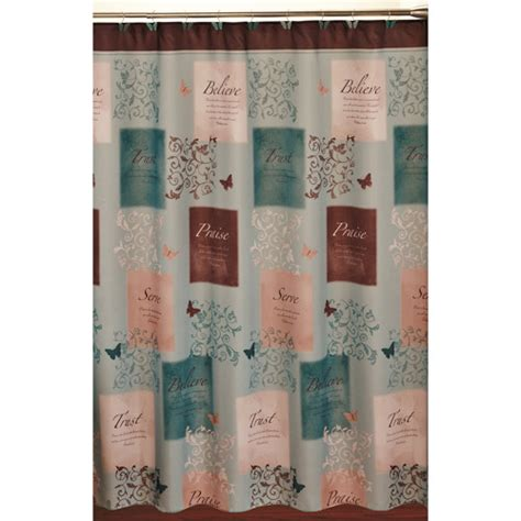 walmart bathroom curtains sets butterfly blessings shower curtain and hook set walmart
