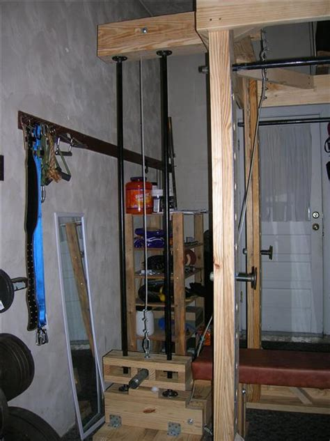 homemade power rack  lat tower