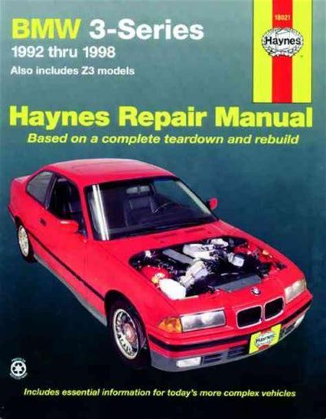 car maintenance manuals 1998 bmw 3 series parking system bmw 3 series e36 e37 z3 1992 1998 haynes service repair manual workshop car manuals repair