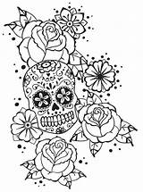 Coloring Pages Skull Roses Adult Calavera Notebook Deviantart Badass Colouring Adults Monsieur Cute Dead Skulls Tattoo Inspirational Boardwalk Sugar Books sketch template