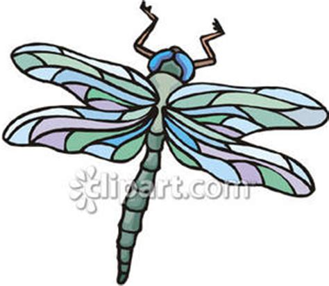 pretty dragonfly clipart a pretty green dragonfly with colorful wings royalty free