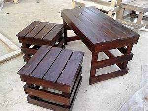 Pallet coffee table with side tables 101 pallet ideas for Pallet coffee table and end tables