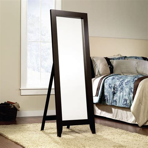 Jaclyn Smith Espresso Wood Standing Floor Mirror Shop