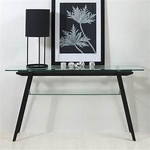 Tisch Glas Metall : konsolentisch monti glas metall schwarz beistelltisch glastisch anrichte tisch ebay ~ Markanthonyermac.com Haus und Dekorationen
