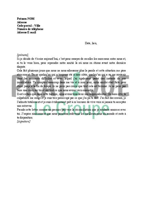 texte pour une pote lettre d excuses pour un ami pratique fr