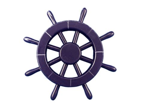 Blue Ship Wheel Clip Art
