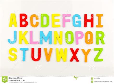 alphabet magnets  whiteboard stock photo image