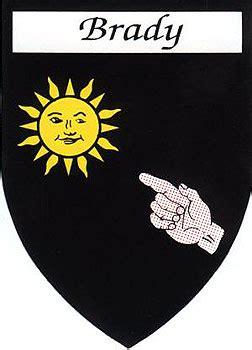 family  stickers brady coat  arms