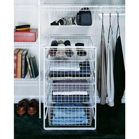 Closet Organizer Baskets by Closetmaid 18 In X 30 In Drawer Kit With 4 Wire Basket