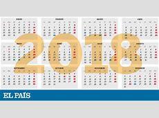 Calendario laboral para 2018 Actualidad EL PAÍS