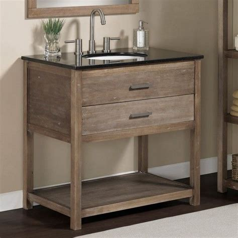 elements 36 inch granite top single sink bathroom vanity