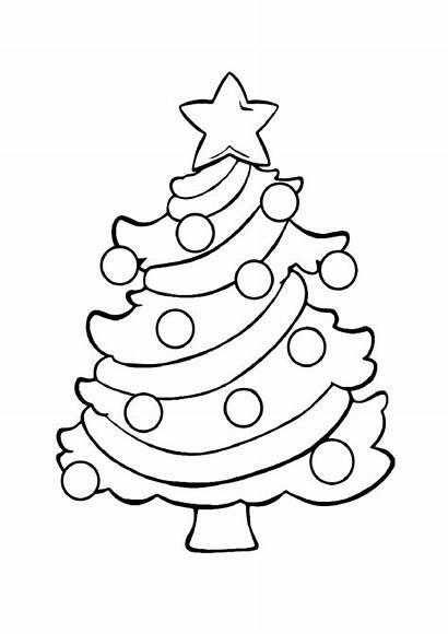 Tree Coloring Christmas Pages Printable Chrismas Holidays