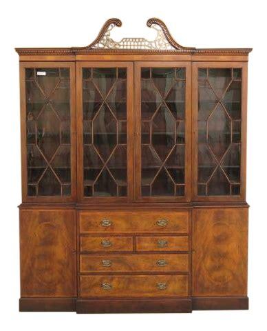 kitchen hardware cabinets baker mahogany breakfront china cabinet chairish 1793