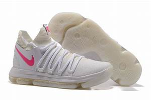 2017 Cheap Nike KD 10 White Pink Glow in the Dark Men's ...