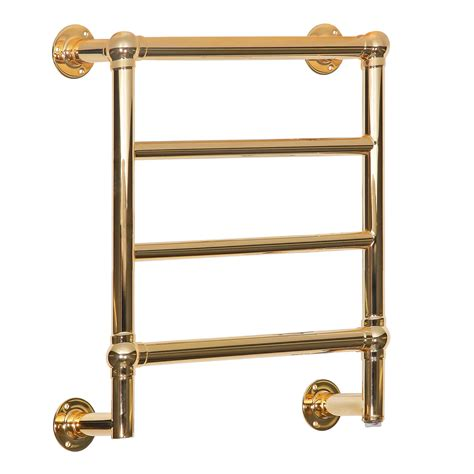 cast iron shelf kora 4 polished brass electric towel radiator traditional