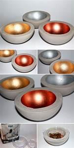 Mit Gips Basteln : diy gips beton schale in kupfer silber und gold gips ~ Lizthompson.info Haus und Dekorationen