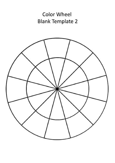 blank color wheel template printable