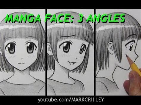 draw  manga face   angles female