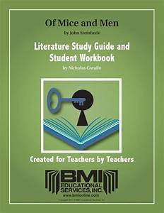 Of Mice And Men  Study Guide And Student Workbook  Enh