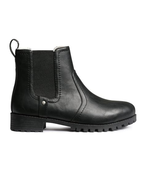 boots chelsea lined hm shoes lyst