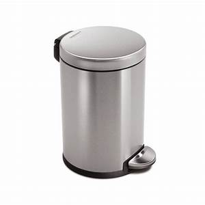 Simplehuman CW1852BL Gallon Brushed Stainless-Steel Indoor