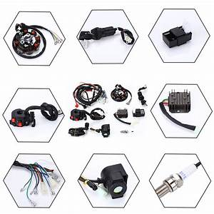 Electric Full Wiring Harness Wire Loom For Atv Quad Bike