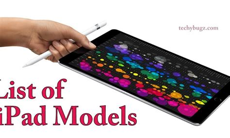 list  ipad models price specifications features