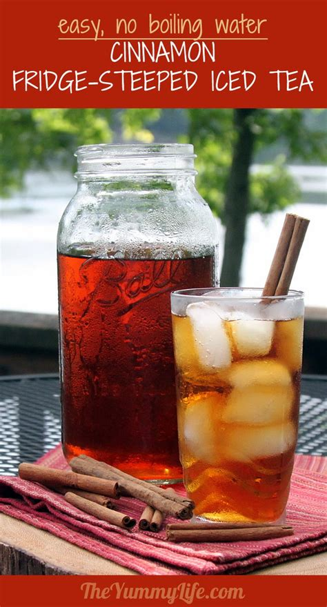 cinnamon  spice refrigerator iced tea