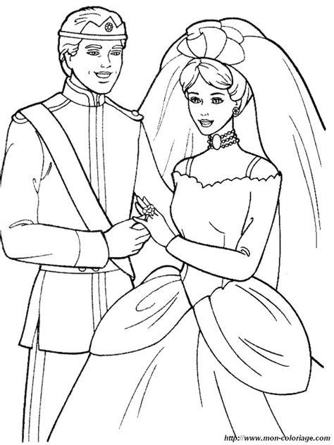coloriage de mariage dessin coloriage mariage barbie  jpg  colorier