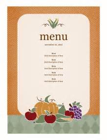 free autumn themed printables or templates for microsoft office free menu templates menu