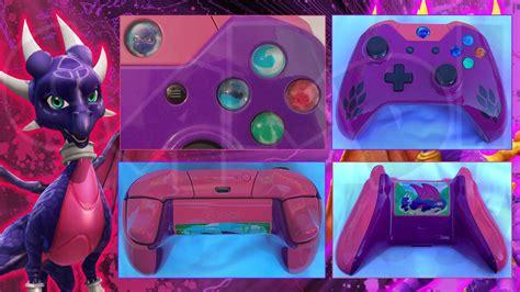 custom xbox  controller cynder legend  spyro  cardi