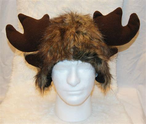 moose hat cap furry monster decoy antlers animal costume