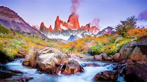 torres del paine national park  fall hd wallpaper