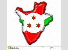 Burundi Button Flag Map Shape Stock Illustration
