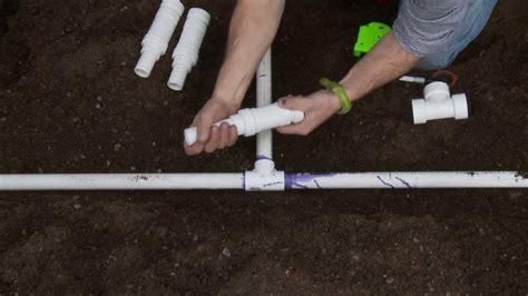 How To Repair Pvc Sprinkler Pipe; Glueless Tee Slide