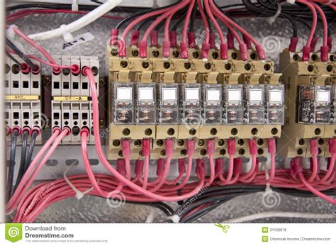 Electrical Wiring Control Panel Diagram Royalty Free Stock