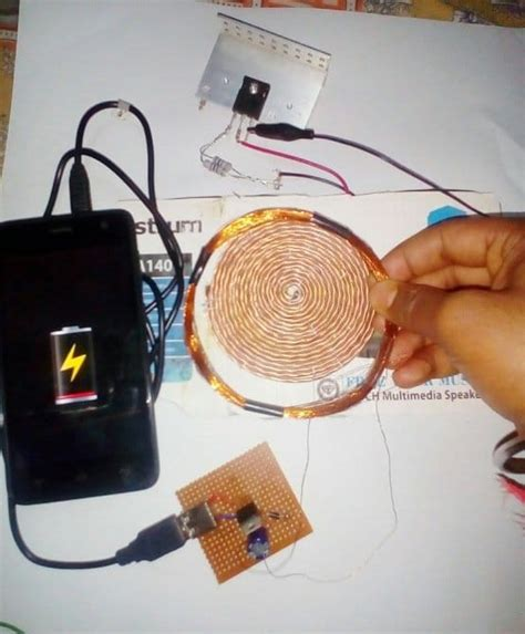 wireless cellphone charger circuit homemade circuit projects