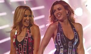 Kylie Minogue And Sister Dannii Have No Problem Being Nude Together Daily Mail Online