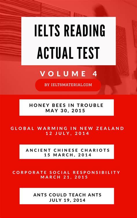 test ielts free ielts reading recent actual test volume 4