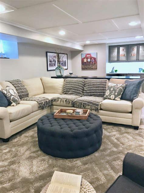hgtv fixer upper inspired basement remodel  cozy