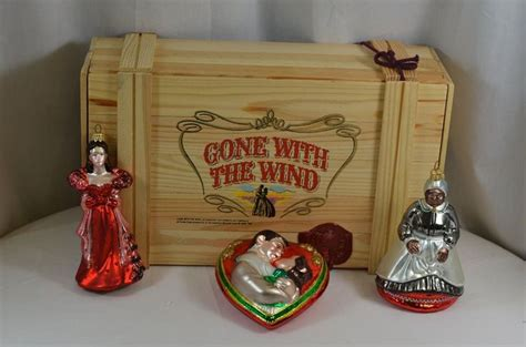 gone with the wind polonaise glass christmas ornament set